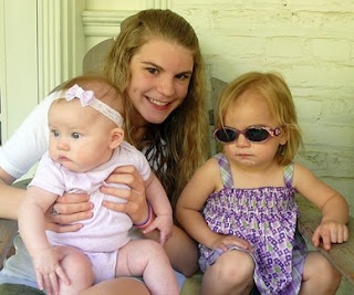 Kelly with Riley and cool Kathryn