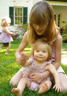 Emma with Julia, Kathryn running behind