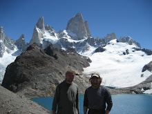 Dave and Duncan after hiking up to Tres Lagunas