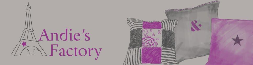 Andie's Factory: blog de décoration, coussins et plaids personnalisés, patchworks