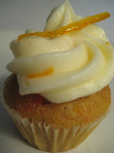 Mini Carrot cupcake a hint of orange cream cheese icing