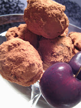Brandied cherry dark chocolate truffles