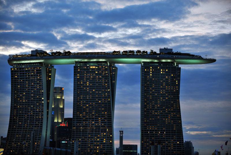 La photo du jour janvier 2011 for Singapour hotel piscine sur le toit