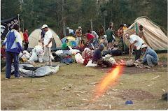 Preparando el campamento