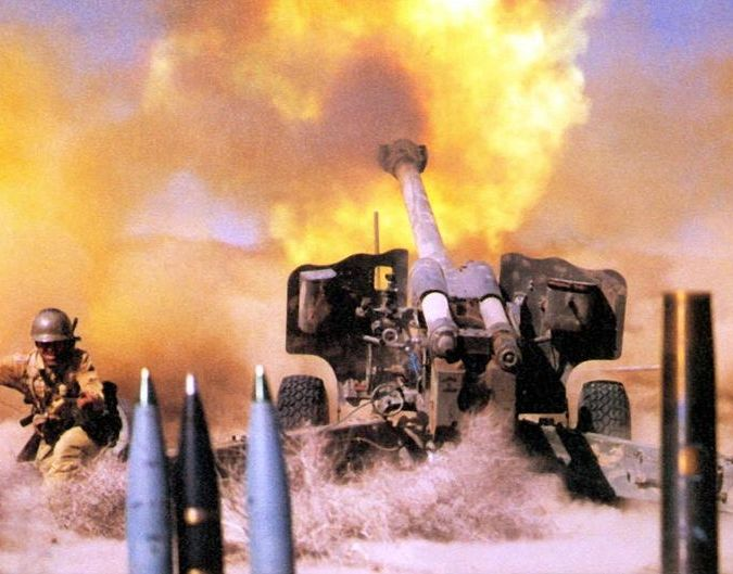 Senjata Meriam Howitzer M101, Senjata Jarak Jauh