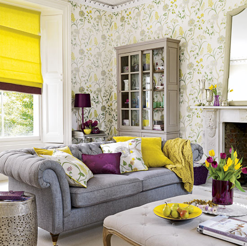 More Purple, Green and Yellow Room Inspiration