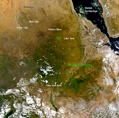 Satellite image of Ethiopia