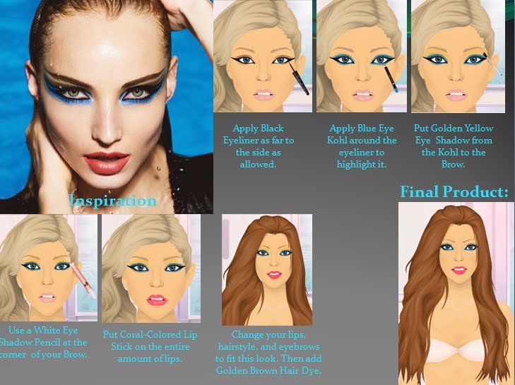how to do exotic makeup. I found this exotic make up
