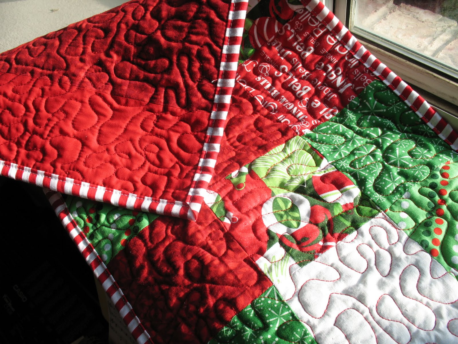 christmas Runner Table Quilted craft  runner Christmas table