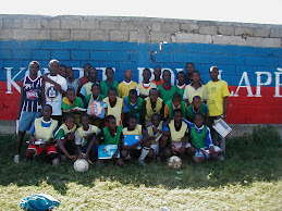 Some of the members of the Pax Christi Soccer Team in Cite de Soleil