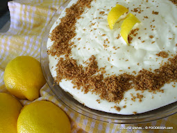 LEMON mousse frozen PIE no bake