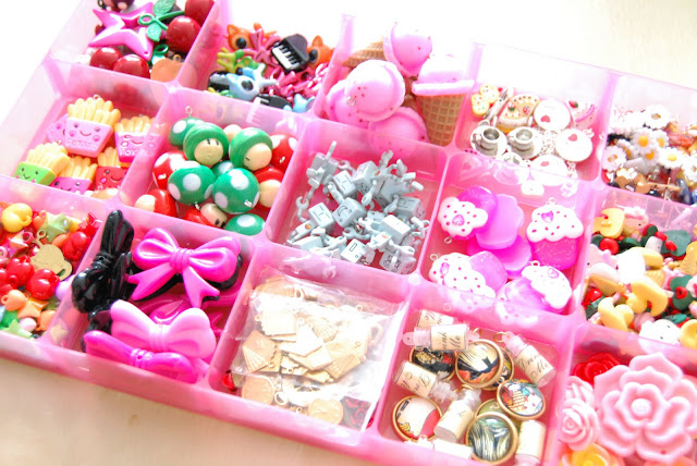 organized colourful bubblegum charms