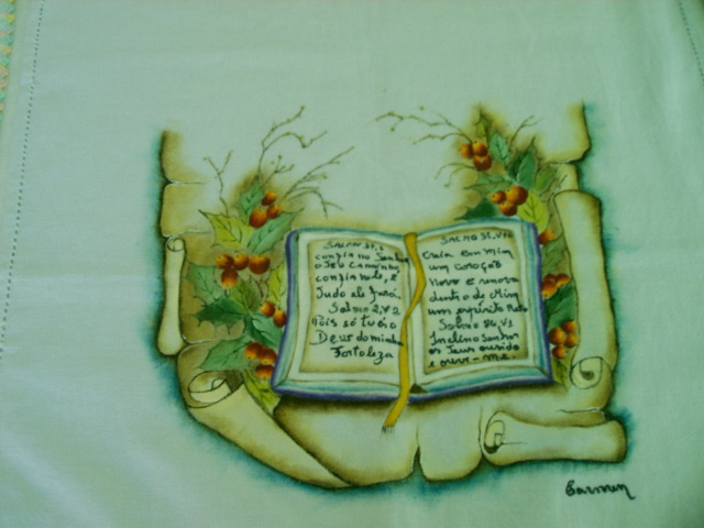 Biblia Sagrada   Mensagem Pintura Que Fiz Em 2008