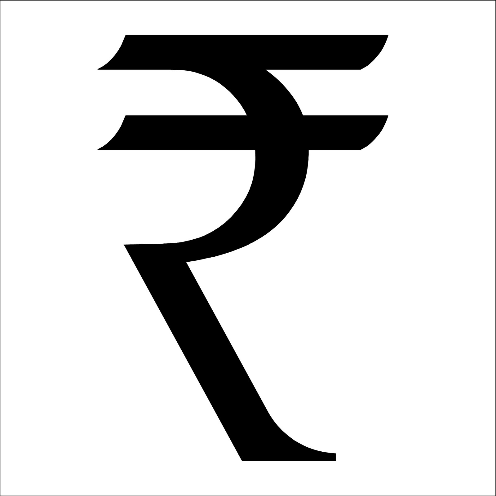 Fun with letterforms customization of rupee symbol buycottarizona