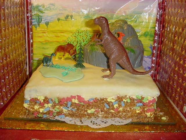 Dino-taart voor Daniël