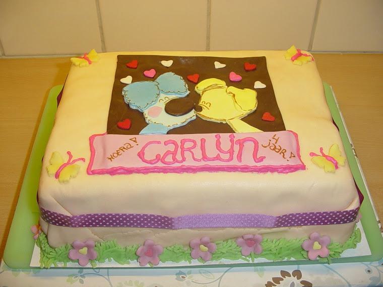 Woezel en Pip taart voor Carlijn