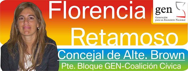 Concejal Florencia Retamoso