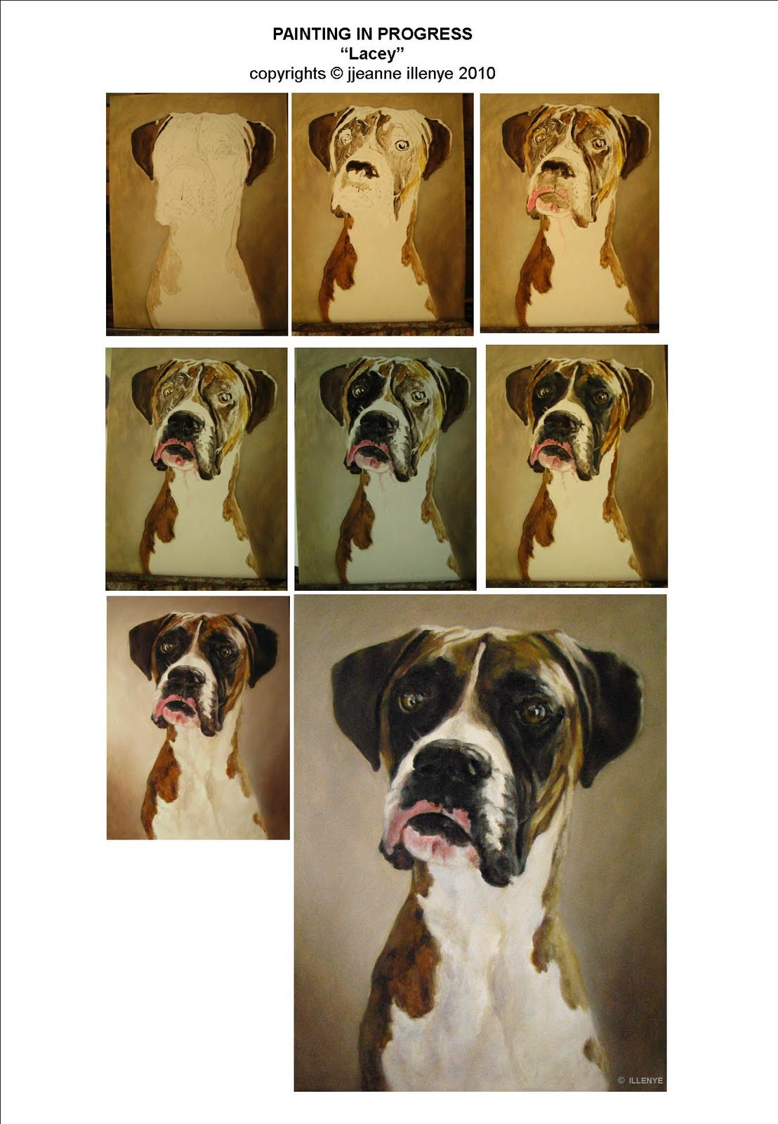 Jeanne illenye looking after them lacey boxer portrait in lacey tutorial baditri Image collections