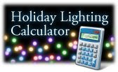 Visit dom.com for our new Holiday Lighting Energy Calculator