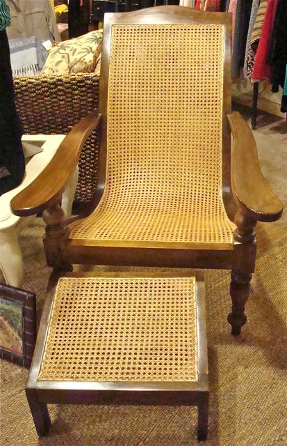 Vita Bella Kenwood Cane Plantation Chair Amp Ottoman