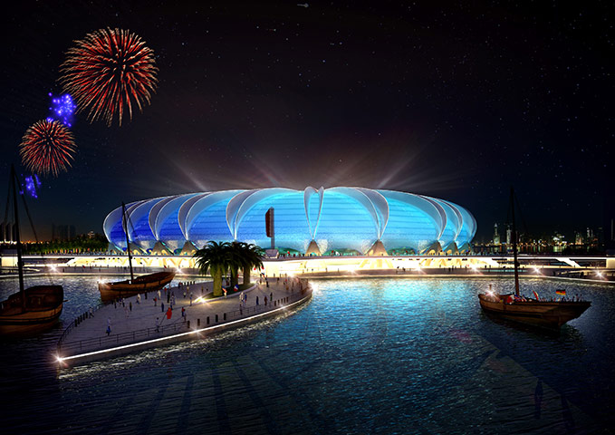 2022 Football  World Cup Stadiums in Qatar Seen On www.coolpicturegallery.us