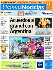 Un Saludo al Diario Ultimas Noticias...