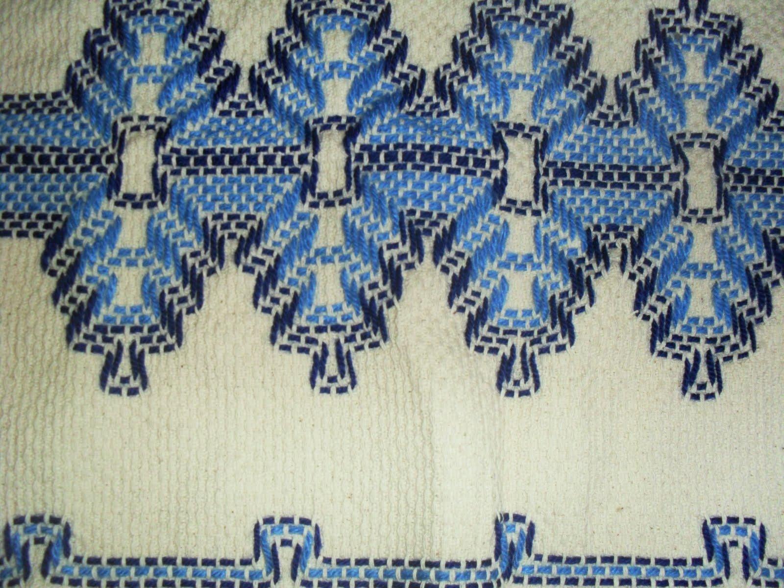 Taty Artes: tapete de vagonite azul