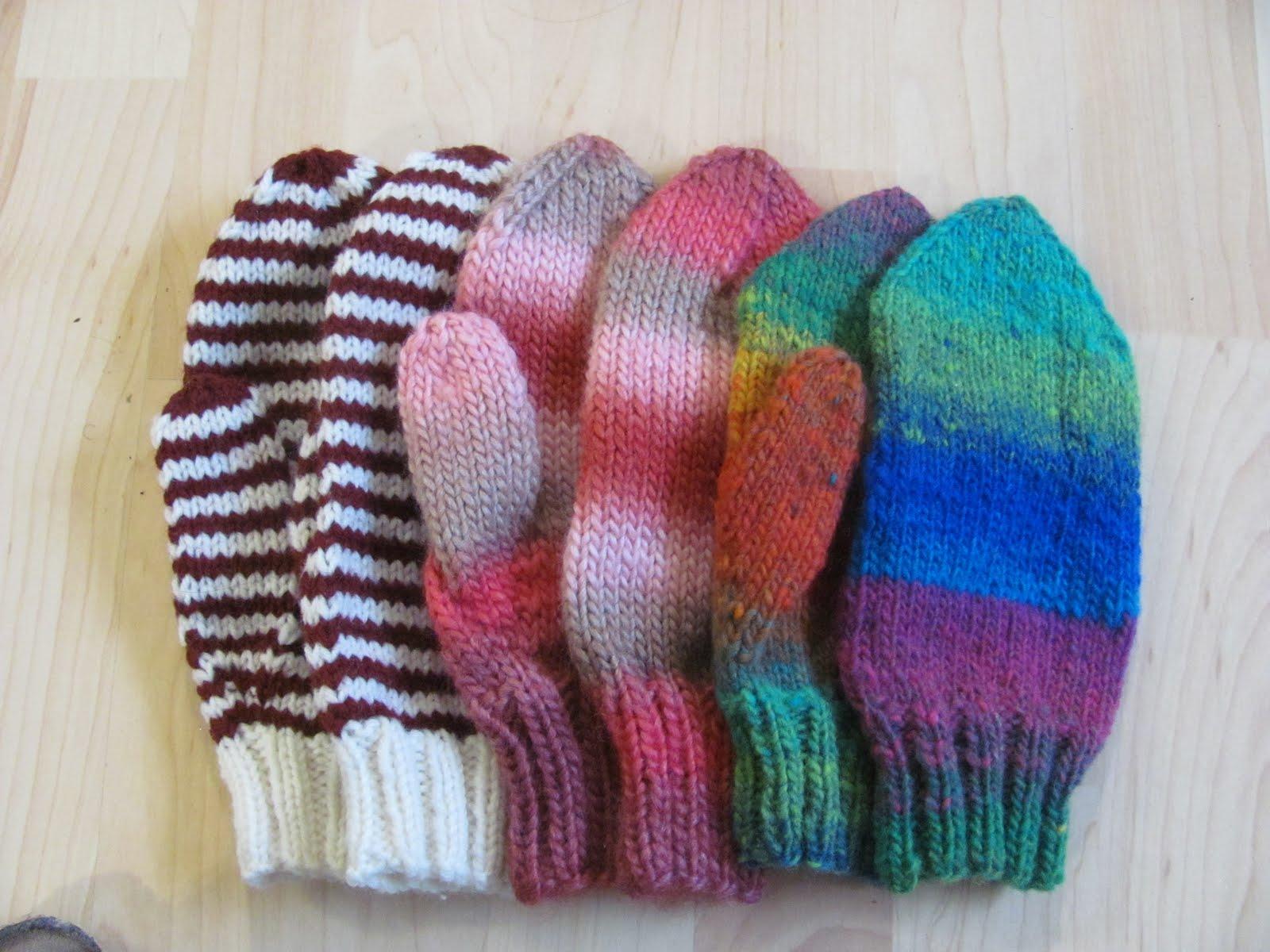 patron mitaine tricot 4 aiguilles