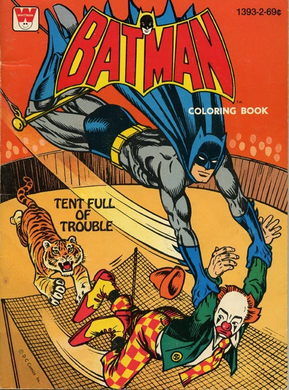 The Dork Review: Coloring Books: 1970\'s Whitman Batman