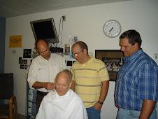 Shaving Dad's head