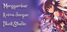 Gambar anime dengan IllustStudio