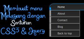 Membuat menu melayang dengan sentuhan Jquery dan CSS3