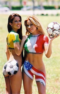 gz-body art or World Cup Concept Supermodels Airbrush Body Paint