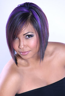 Colour model's haircut