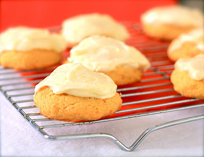 ... of a Bake-aholic: Carrot Cookies with Orange Cream Cheese Frosting