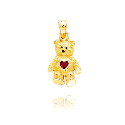 July Birthstone Ruby Bear