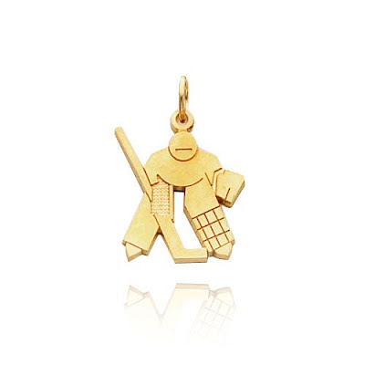 Gold Hockey Charm