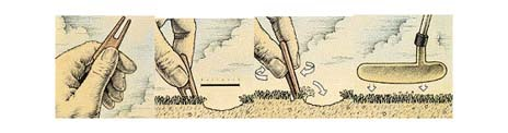HOW TO PROPERLY REPAIR BALLMARKS ON GREENS