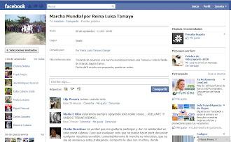 Preparan blogaccion y marcha mundial por Reyna Luisa Tamayo
