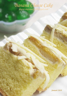 NCC Banana Week: Banana Cheese Cake by Ria Prasetyo