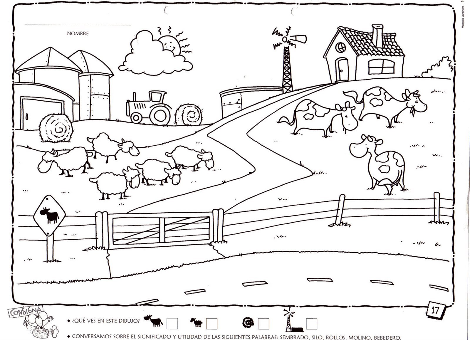 Worksheet. Rural dibujo  Imagui