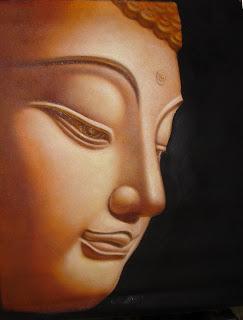 Half Face Buddha Bronze