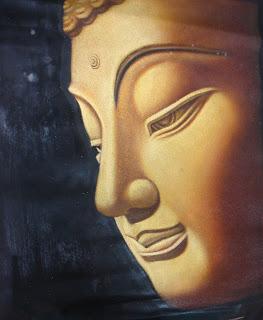 Golden Half Face Buddha
