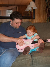 Playing the guitar with Uncle Kirt