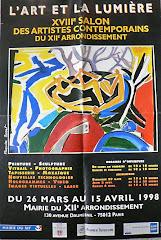 1998 - L'art et la lumière à la mairie du XIIème - Paris