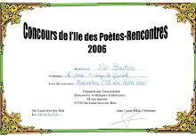 Concours de l'Île des Poètes 2006