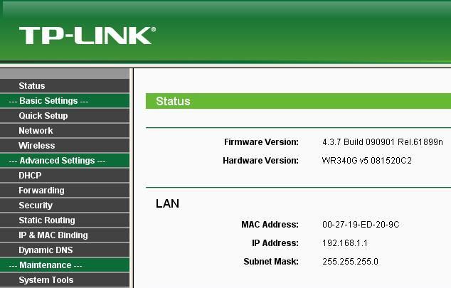 Tp Link TL Wr340g прошивка