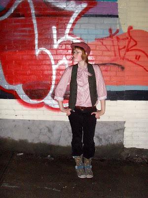 We love Anna 39s moon boots and retro cap shirt renaissance vest was my