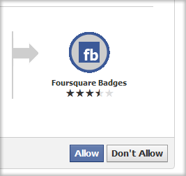 Foursquare Badge - Request for Permission