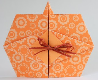 Origami Thanksgiving Invitations Pumpkin Tato